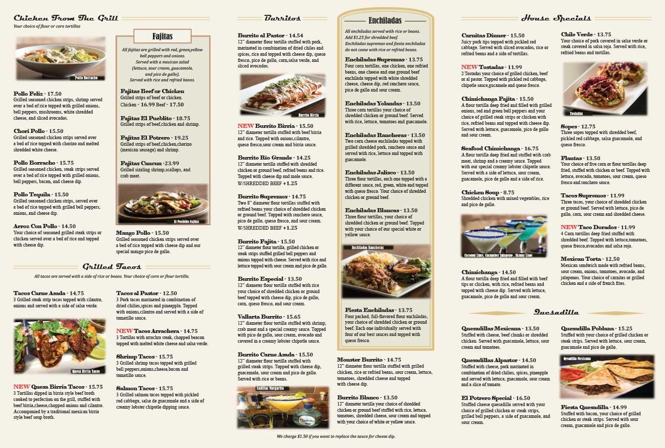 El Potrero Mexican Restaurant Menu page 2